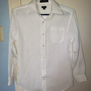 Boys White Dress Shirt - size 10/12